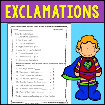 Exclamations Assessment