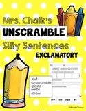 Exclamatory Sentences - Unscramble Silly Sentences