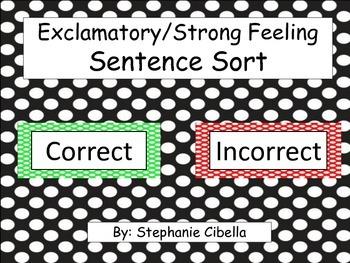 Exclamatory-Strong Feeling Sentence Sort