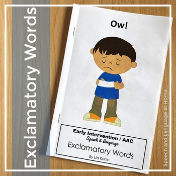 "Exclamatory Word Book: ""Ow!"" for Early Intervention"