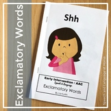 """Exclamatory Word Books for Early Intervention: """"Shh"""""""