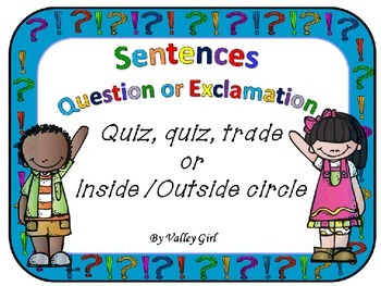 Exclamatory or Asking sentences: Quiz, quiz, trade or Inne