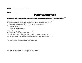 Exclamatory ! or Interrogative ?