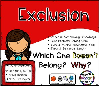 Exclusion- Which One Doesn't Belong?