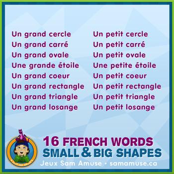 French Game about Shapes / Jeu en français sur les formes