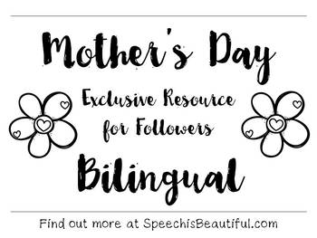 Exclusive Subscriber Free Resource: Bilingual Mother's Day Printable