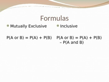 Exclusive and Inclusive Probability