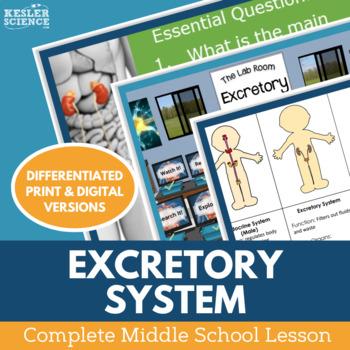 Excretory System Complete 5E Lesson Plan