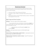 Excretory System Reference Sheet