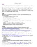 Excretory System WebQuest