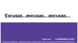 Excusas, excusas, excusas