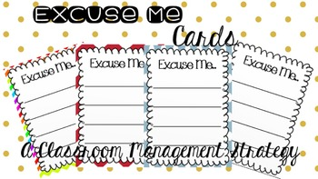 Excuse Me Cards