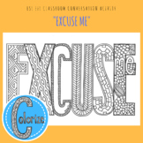 Excuse Me English ESL EFL Classroom Coloring Activity for