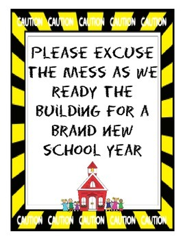 Excuse Our Mess Sign