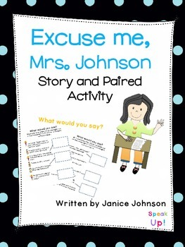 Excuse me, Mrs. Johnson Story & Paired Activity {EFL, ESL}