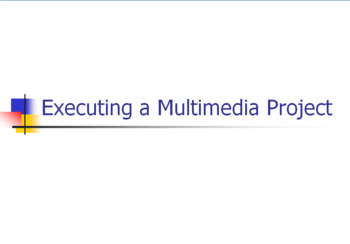 Executing a Multi Media Project