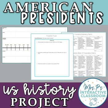 Executive Branch: American Presidents Project! Common Core Aligned