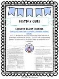 Executive Branch Bellwork/ Bellringer/ Close Reading {History Guru}