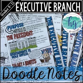 Executive Branch Doodle Notes