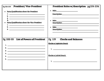 Executive Branch Foldable