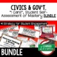 Executive Branch I Cans, Self-Assessment of Mastery, CIVICS