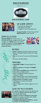 Executive Branch Infographics