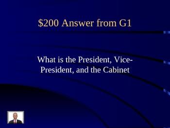 Executive Branch Jeopardy