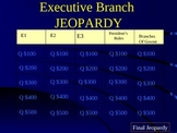 Executive Branch Jeopardy