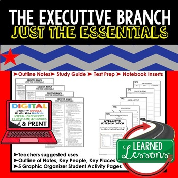 Executive Branch Outline Notes JUST THE ESSENTIALS Unit Review