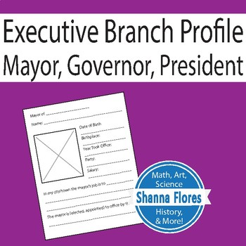 Executive Branch Profile - Mayor, Governor, President