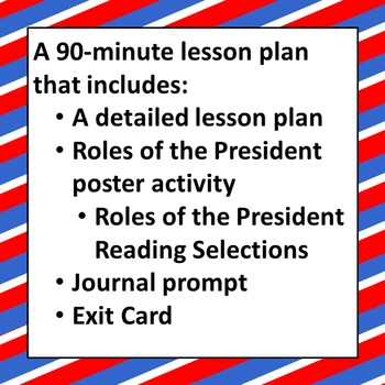 Executive Branch: Roles of the President Lesson Plan (Low Prep)