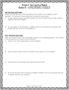 Executive Branch Station Activity - The President