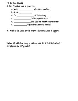 Executive Branch Test