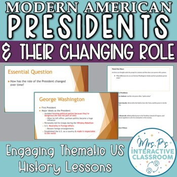 Executive Branch: The Changing Role of the Modern American President