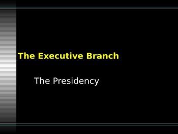Executive Branch--U.S. Constitution