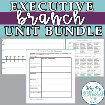 Executive Branch Thematic Unit Bundle