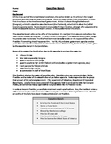 Executive Branch Worksheet Packet