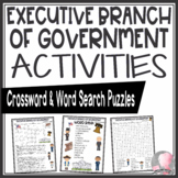 Executive Branch of Government Crossword Puzzle and Word Search Find Activities