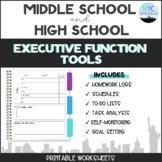 Executive Function Activities for Middle and High School