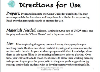 Executive Function Game Guide #2 {Companion for ®UNO}