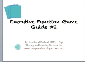 Executive Function Game Guide Bundle {Companions for ®UNO and ®Sorry!}