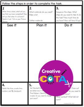 Executive Function See It, Plan It, Do It template