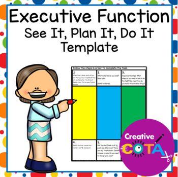 Executive Function: Get Ready, Do, Done/All done template