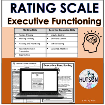 Executive Function Rating Scale-Editable