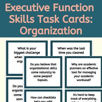 Executive Function Task Cards: Organizational Skills