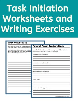 Executive Function Worksheets Task Initiation by The ...