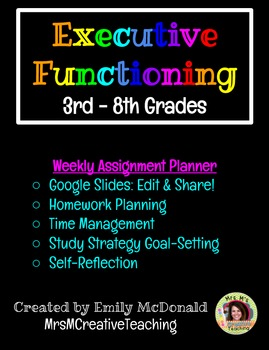 Executive Functioning: Assignment Planner (Google Slides)
