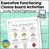 Executive Functioning Choice Boards - Distance Learning -