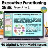 Executive Functioning Skills Digital and Print Workbook fr
