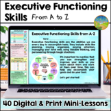 Executive Functioning Digital Workbook from A to Z - Dista